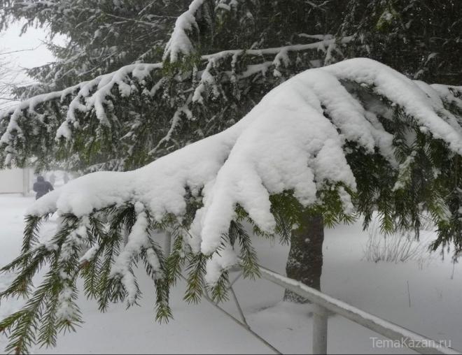 Сегодня в Казани сохранится снежная погода