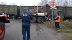 Новости  - В Набережных Челнах «КамАЗ» врезался в локомотив