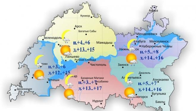 Сегодня по республике столбик термометра поднимется до 17 градусов тепла