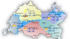 23 июня воздух в Татарстане прогреется до 30 градусов тепла