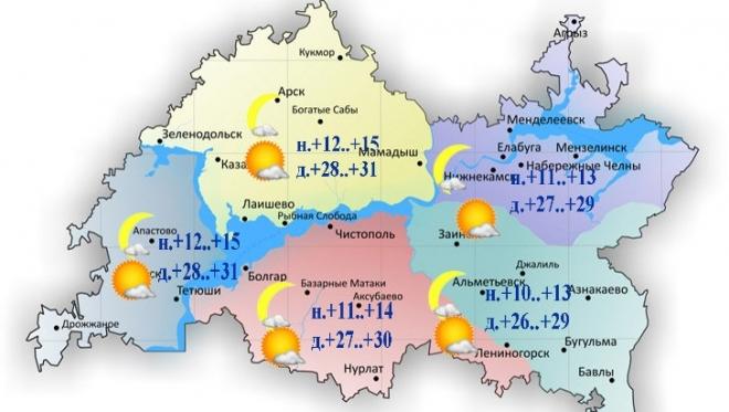 Новости  - Сегодня температура в Татарстане поднимется до +26..+31