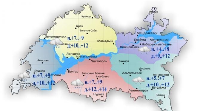 В Татарстане ожидается облачная погода