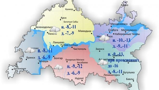 Сегодня на дорогах Татарстана ожидаются снежные заносы