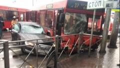 Новости  - Утро четверга: в центре города произошло серьезное ДТП