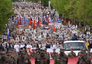 В акции «Бессмертный полк» 9 мая участвовали 45 тысяч казанцев