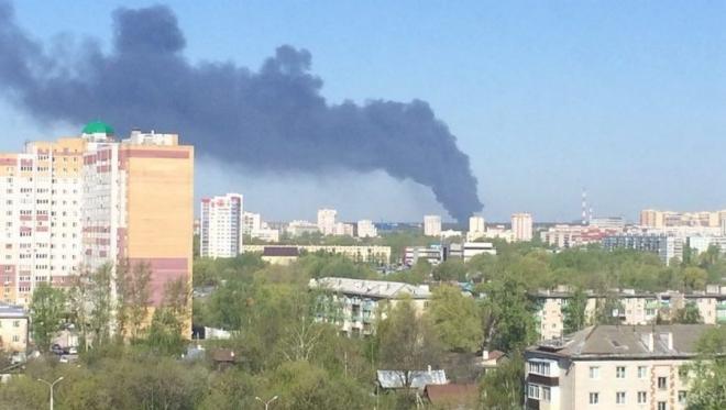 В Казани ликвидировали пожар в районе ЖБИ-3