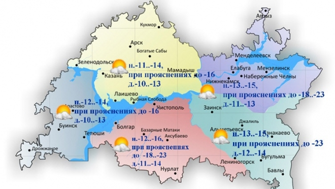 По Татарстану ожидается облачная погода