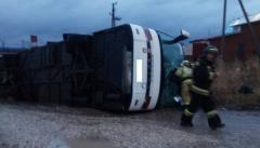 Новости  - Автобус с экскурсионной программой в Казань перевернулся в Удмуртии