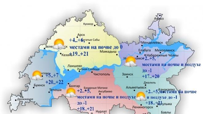 Сегодня по республике воздух прогреется до 22 градусов тепла