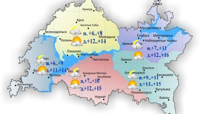 Новости  - Сегодня днем в Татарстане без осадков и облачность с прояснениями