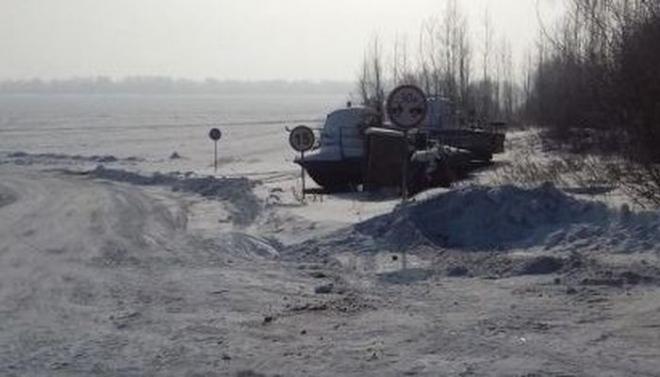 На границе с Нижнекамским районом открыли новую ледовую переправу