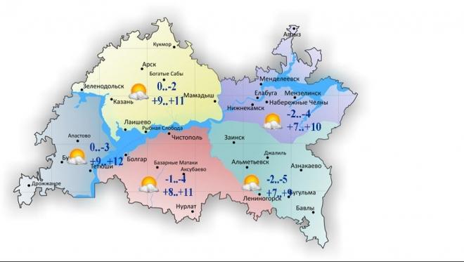 15 апреля в Татарстане переменная облачность и без осадков