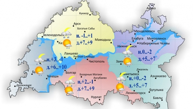 Гидрометцентр РТ: сегодня в Казани ожидается дождь и мокрый снег