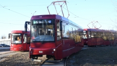 Новости  - Президенту республики показали новые трамваи и электробус