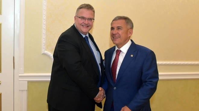 Президент Татарстана встретился с послом Дании в России