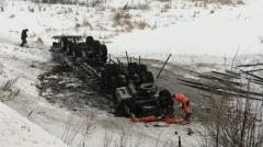 Новости Транспорт - На автодороге Альметьевск – Лениногорск произошло серьезное ДТП