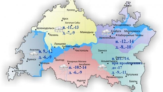 26 декабря по Татарстану ожидается метель и снег