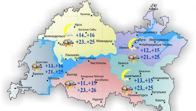 13 июля в Татарстане ожидаются переменная облачность и умеренный ветер