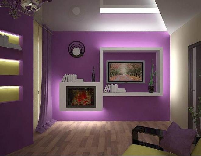 Светодиодная лента в небольшой комнате – идеи размещения