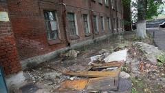 Новости  - В Казани горело заброшенное здание артиллерийского училища