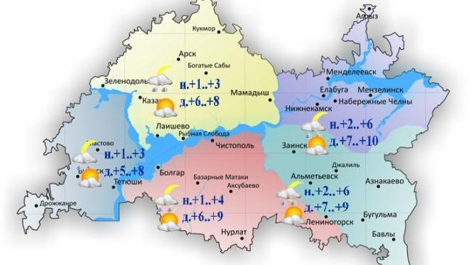 Сегодня в Татарстане ожидается облачность с прояснениями