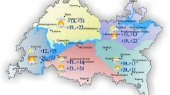 24 мая в Татарстане небольшой дождь и гроза