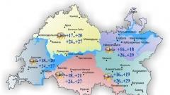 Новости Погода - В Татарстане температура воздуха сегодня прогреется до 29 градусов