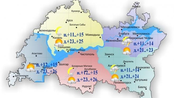 16 июля по Татарстану ожидается умеренный сильный ветер