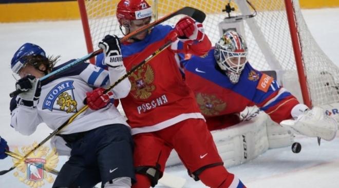 Сборная России по хоккею обыграла сборную Финляндии