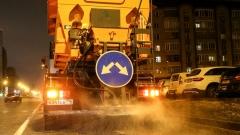 Новости  - Прошедшей ночью казанские дорожные службы начали противогололедную обработку