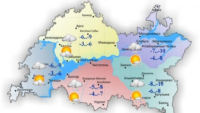 27 ноября в Татарстане облачность и небольшие осадки