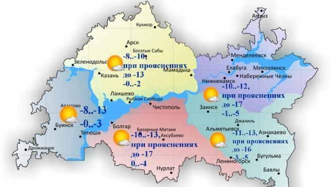 14 ноября в Татарстане без осадков и переменная облачность