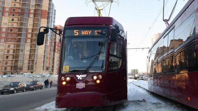 Количество трамваев на маршрутах №5 и №5а в Казани увеличится