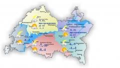 Сегодня в Татарстане небольшой снег, воздух прогреется до нуля