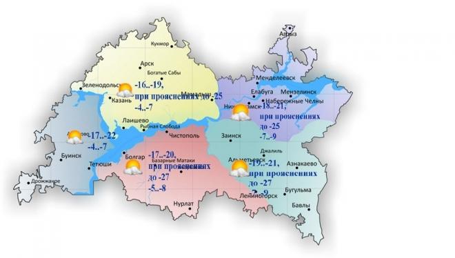 13 марта по Татарстану переменная облачность и без осадков
