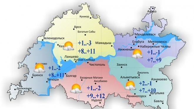 10 октября в Татарстане сохраняется переменная облачность и отсутствие осадков