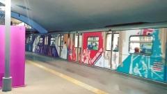 Новости  - В казанском метро появился разноцветный поезд