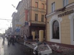 Новости  - В центре Казани рухнул балкон дома, отремонтированного к Универсиаде