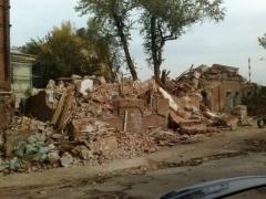 Новости  - В центре Казани снесли еще один старинный кирпичный особняк