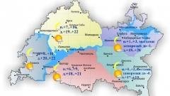 Сегодня по Татарстану ожидается небольшой дождь