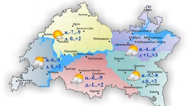 Сегодня по Татарстану ожидается облачность с прояснениями