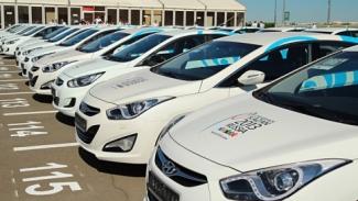 В Казани продают автомобили Hyundai, перевозившие гостей и участников Универсиады