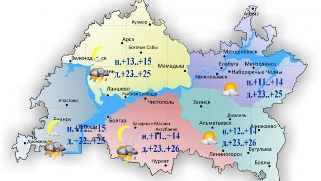 Воздух в Татарстане прогреется до 26 максимальных градусов