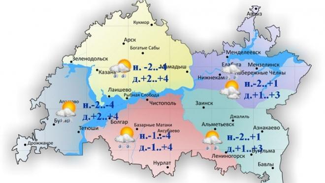 10 марта по Татарстану ожидается облачность с прояснениями